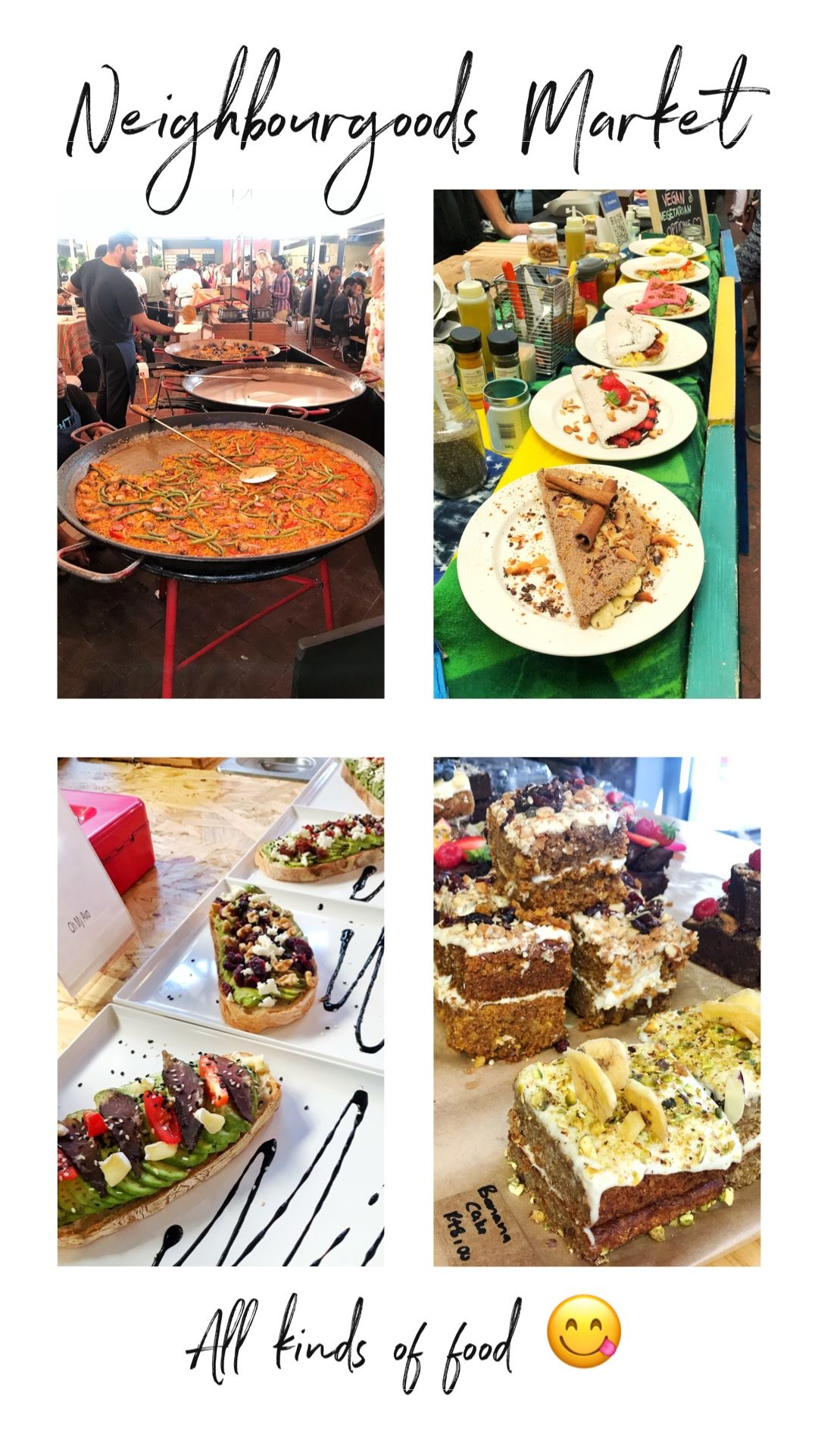 The Foodie's Destination - We've been to a few markets in the past, but this one was definitely the best. There were so many different booths with all sorts of food- avocado toast, crepes, burgers, paella, smoothies, beer, basically just about everything you could think of! Like look how big that pan of paella is in the first photo!So not only did they have all these different food booths, but there was also fresh fruit/ veggies, flowers and so many boutiques! We went into most of them, but ended up not getting anything because the clothes were too expensive IMO. Which I found strange since everything else in Cape Town was so cheap! However, Neighbourgoods is a high tourist destination, so of course the prices are going to be higher!