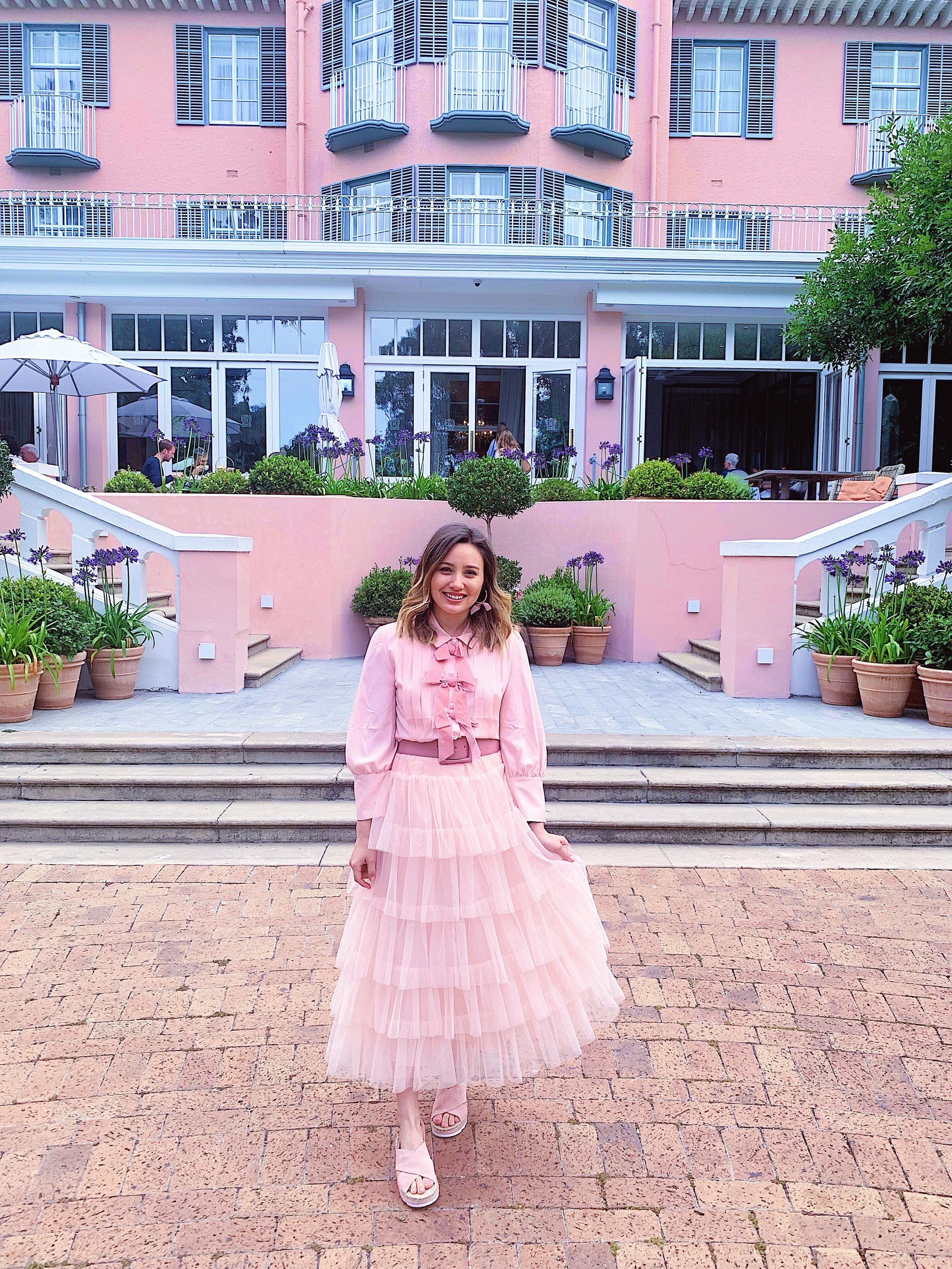 Belmond Mount Nelson - A pink palace with beautiful landscaping a flowers everywhere! I'm going to be real with y'all - high tea was not anything great at all, however it was much cheaper than in London and the experience of getting to see the hotel and grounds was definitely worth going!