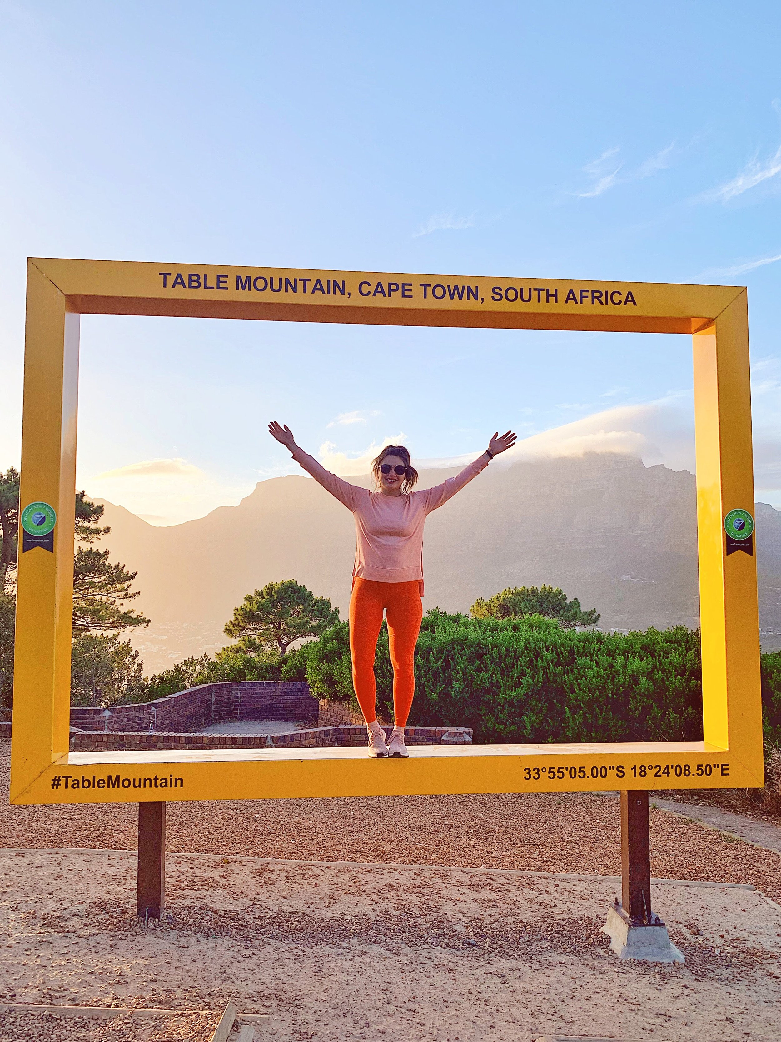 Table Mountain photograph frame at Signal Hill