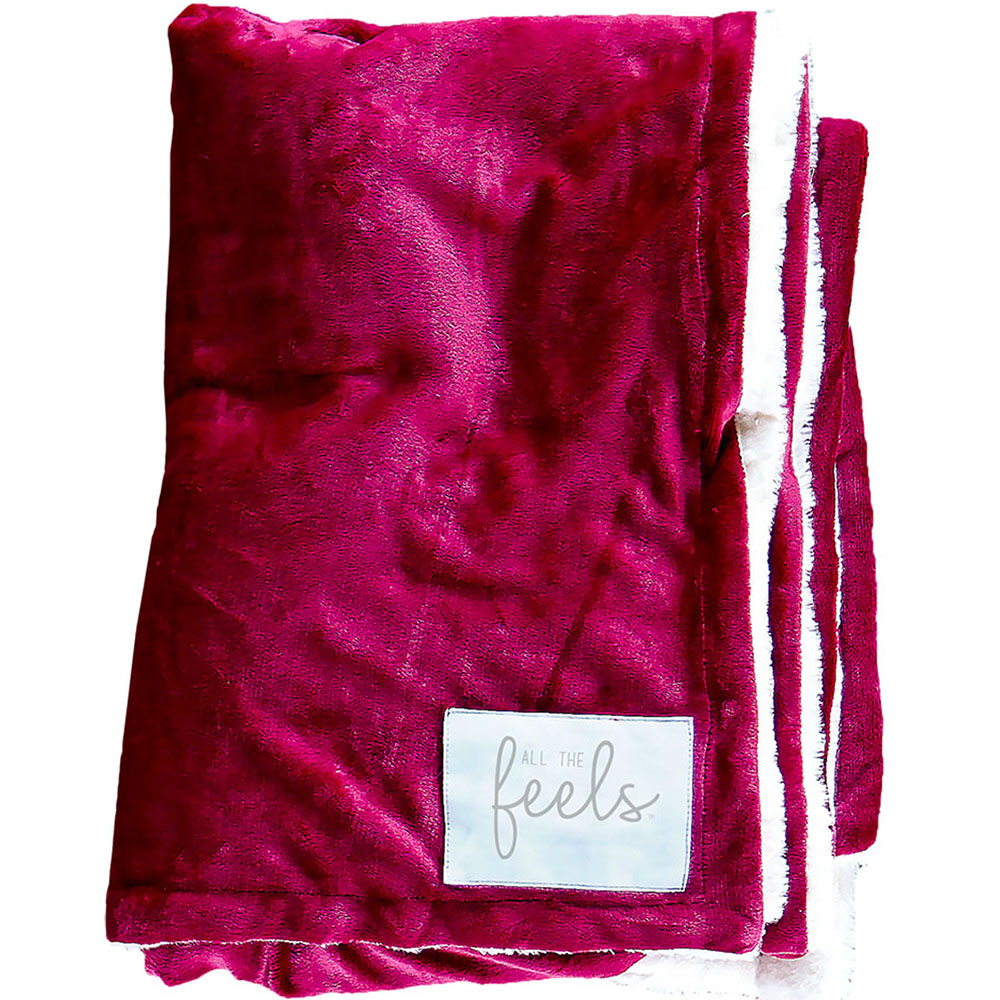 Extra Cozy Reversible Blanket in Beet Red - From $35.00