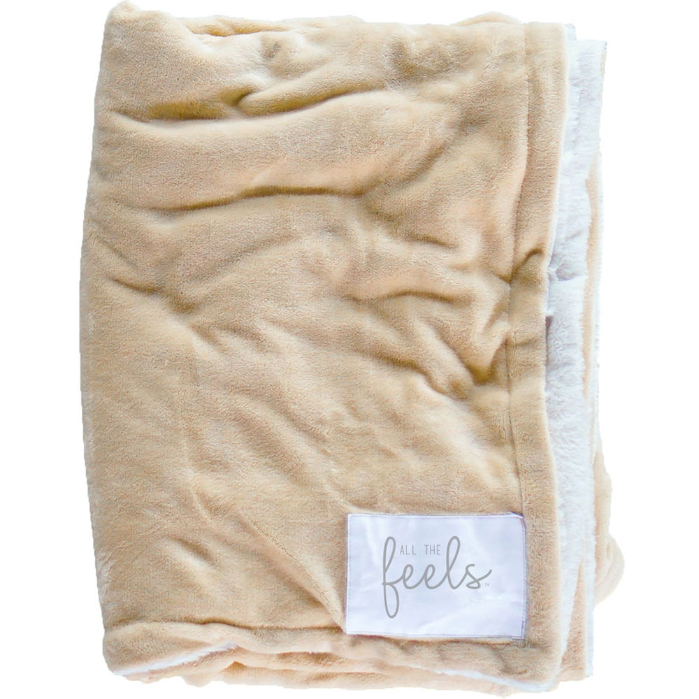 Extra Cozy Reversible Blanket in Golden Beige - From $35.00