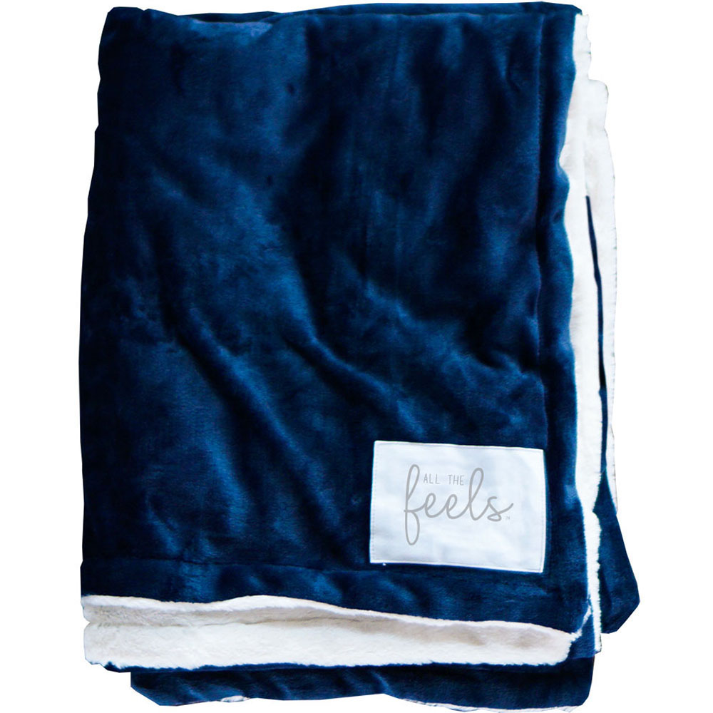 Extra Cozy Reversible Blanket in Mood Indigo - From $35.00