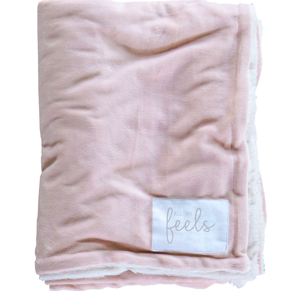 Extra Cozy Reversible Blanket in Rose Smoke - From $35.00