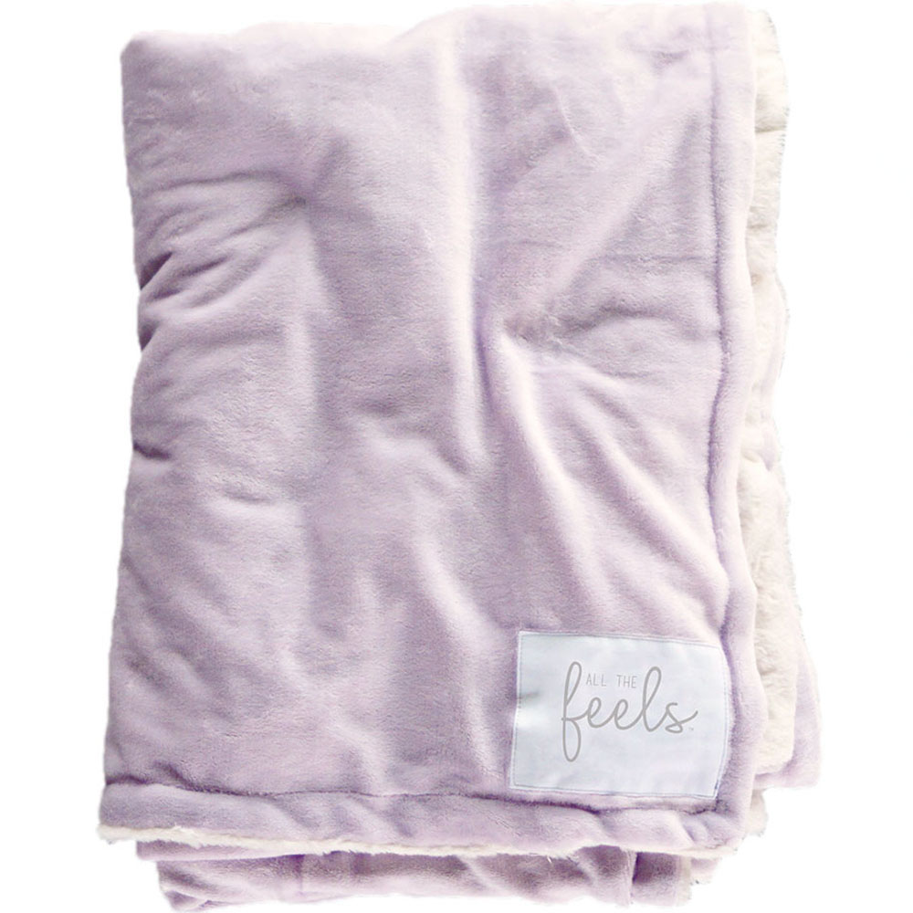 Extra Cozy Reversible Blanket in Lavender Fog - From $35.00