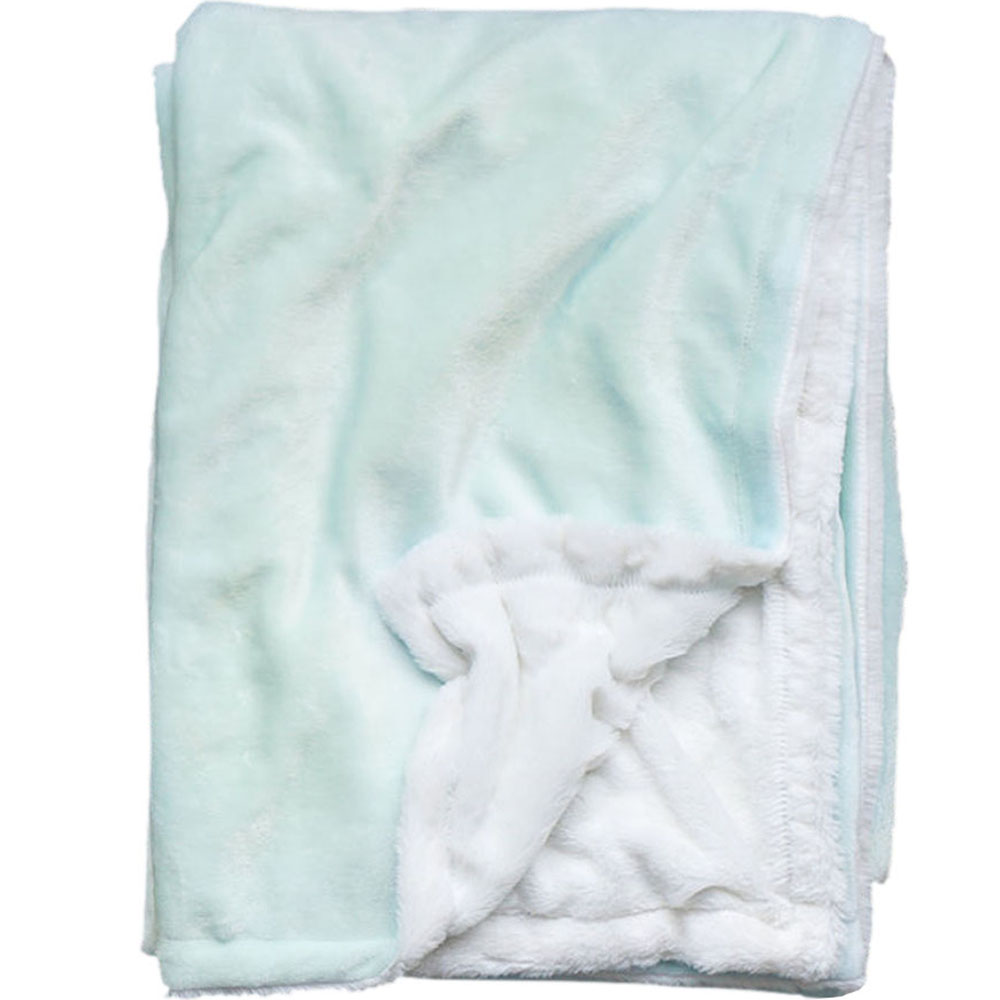 Extra Cozy Reversible Blanket in Glacier Mint - From $35.00