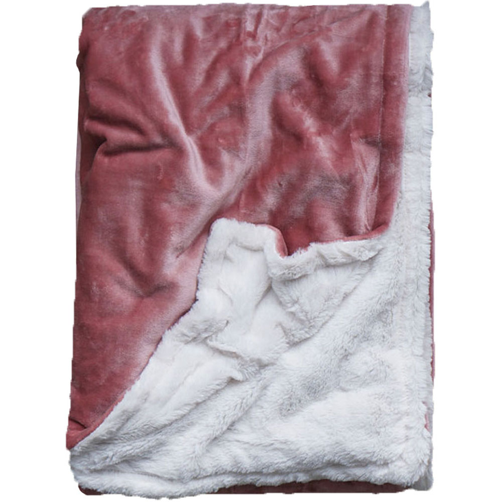 Extra Cozy Reversible Blanket in Ash Rose - From $35.00