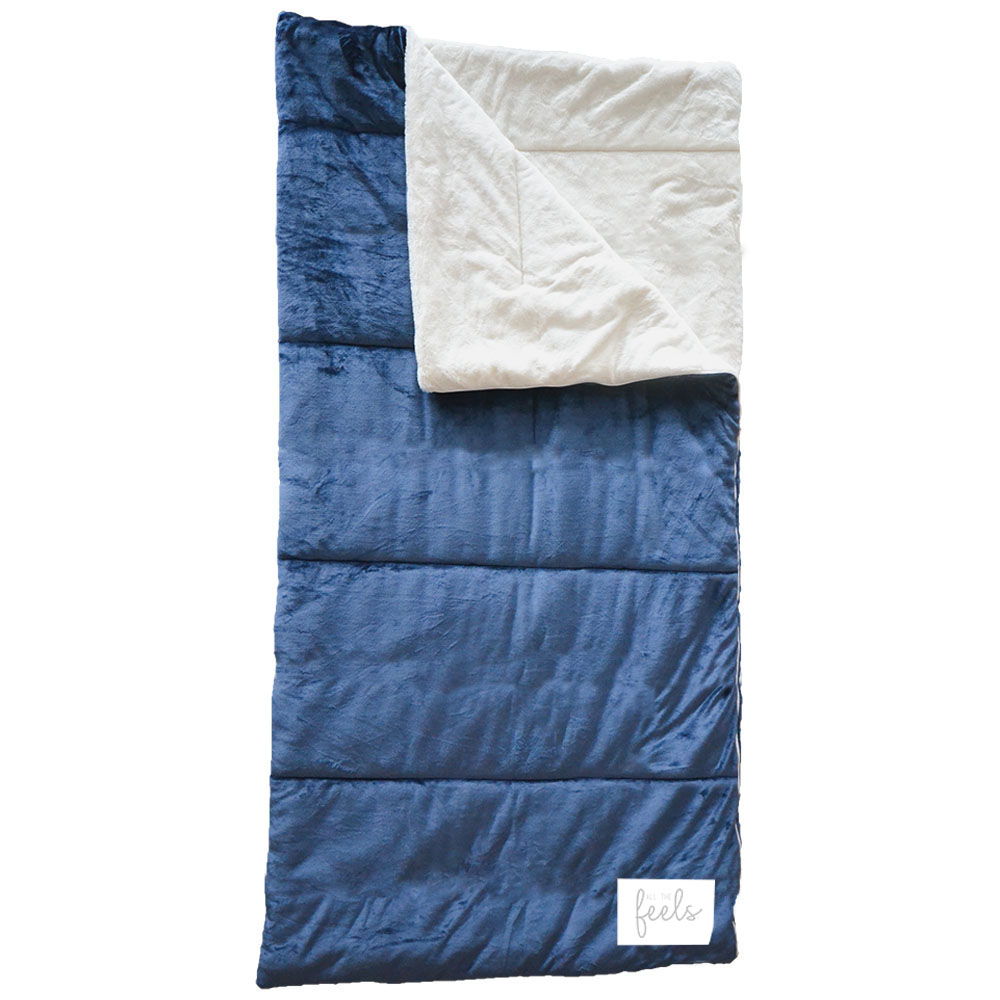 Extra Cozy Sleeping Bag in Mood Indigo - $75.00