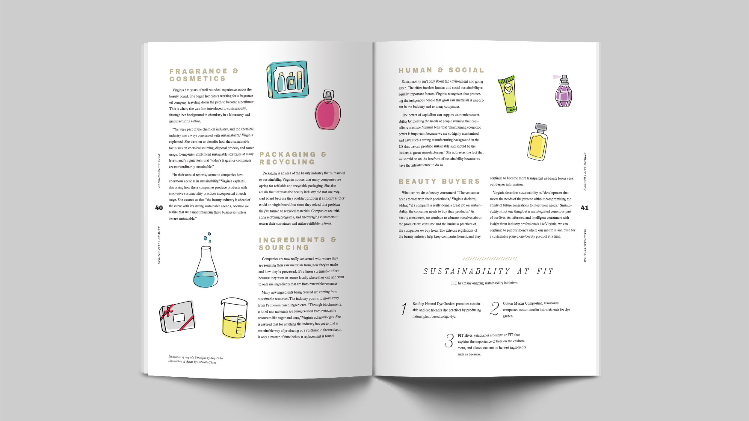 Illustration of objects: Gabrielle Chang