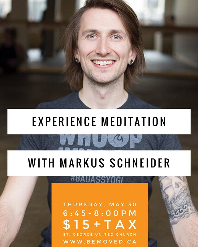 Many of you have asked about practicing and learning more about Meditation, so I've teamed up with Markus of @modoyogabrantford to offer a class/workshop.  In addition to owning and teaching at Modo Yoga, Markus spends a lot of time working in the community with mental health and addiction, teaching mindfulness.  If you would like to learn more about meditation and mindfulness practices, this class is for you! There will be 2 seated practices ranging between 10-20 minutes each, and he will teach about the physiology behind this practice.  Thursday, May 30 6:45pm -8pm $15+hst  St. George United Church 9 Beverly Street E. St. George  Link in bio  #bemovedyoga #modoyogabrantford #meditation #mindfulness #yogaatthechurch #yogainstgeorge #brantfordyoga #stgeorgeontario #brantford #bemovedbeyou