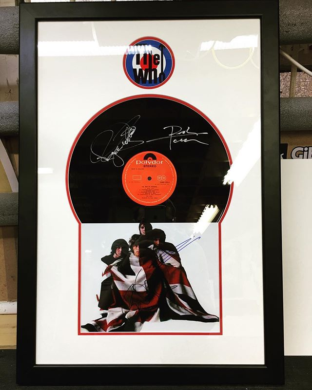 Favourite one from today! #picoftheday #framed #thewho #memorabilia #customframing #custommounts #signed #quadrophenia #pinballwizard #vinylframe