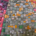 Detail of mosaic at the Philadelphia School for the Creative and Performing Arts.