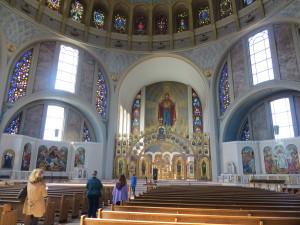 Lovely Byzantine-style architecture, Ukrainian Catholic Cathedral in Philadelphia.