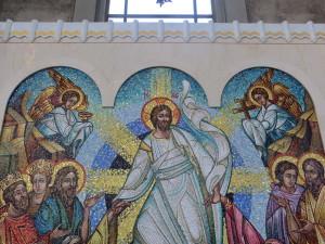 Mosaic panel in the Ukrainian Catholic Cathedral in Philadelphia.