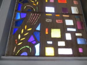 Dalle de Verre windows in the Ukrainian Catholic Cathedral in Philadelphia.