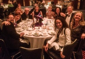 """Our table of happy revelers at """"Have a Ball for SAMA"""", the closing night dinner and party."""