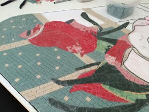 Rose mosaic, WIP