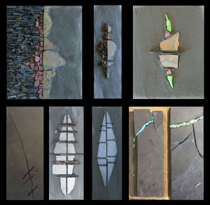 grouping of eight of my workshop pieces