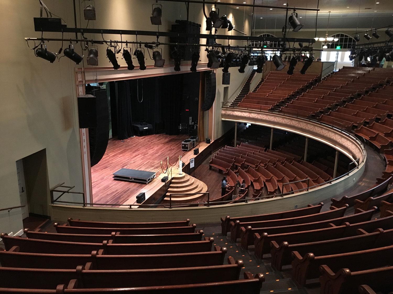 The historic Ryman Auditorium, on my tour of Nashville.