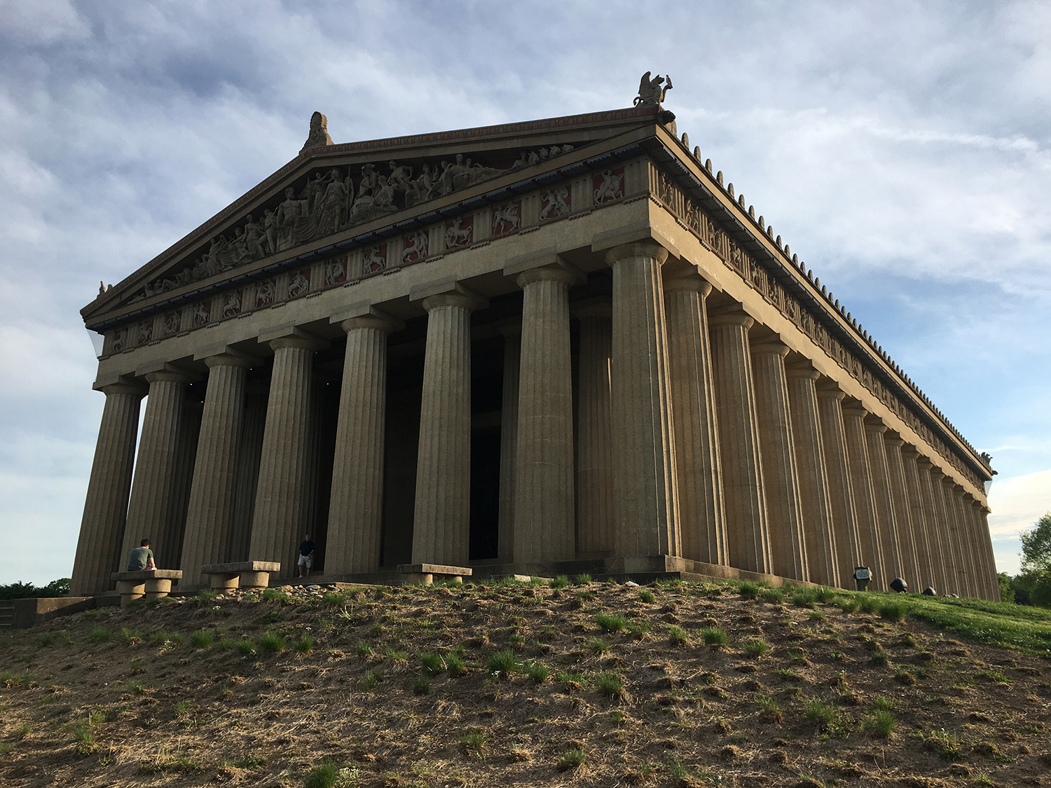 The Parthenon, yep, an exact replica, in Centennial Park in Nashville. And my work is inside!
