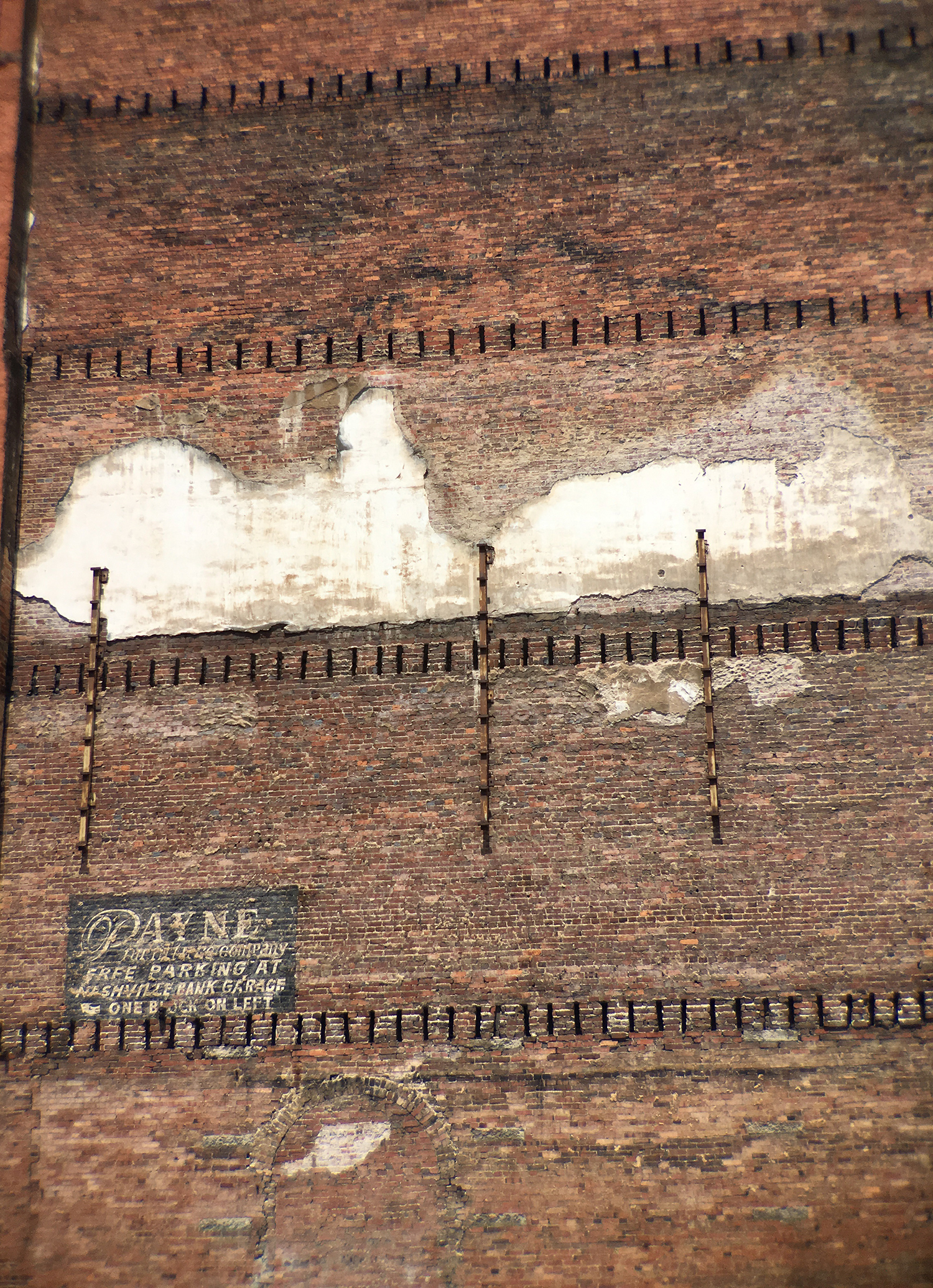 This is my continual inspiration—peeling walls, exposed brick, urban decay.