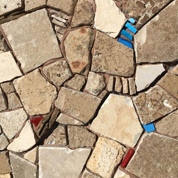 Detail of stone field laying pattern.