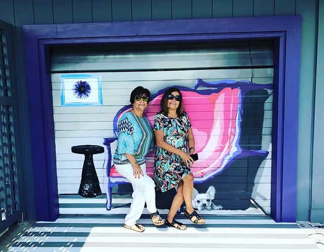My mom and aunt visiting my shop today while I am traveling... #❤️