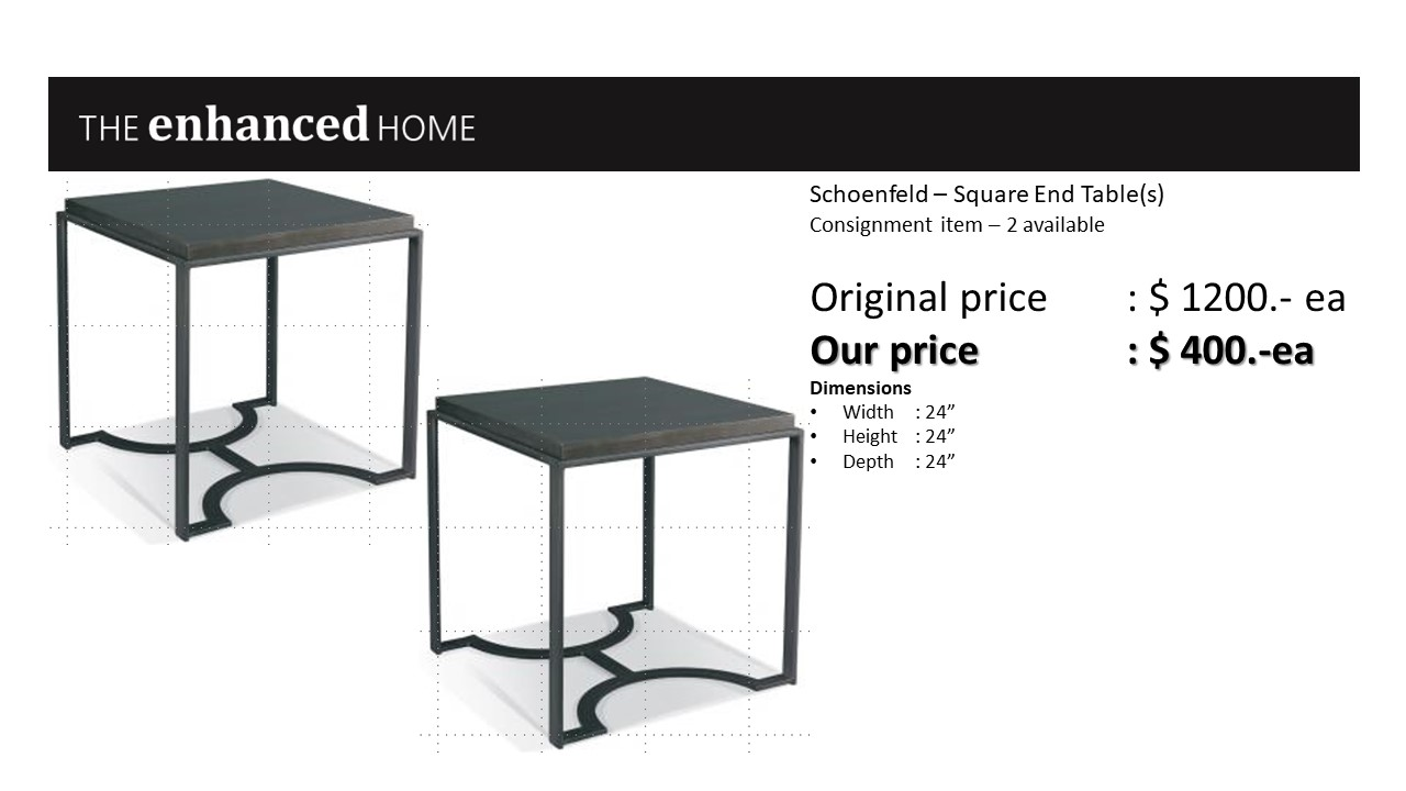 Schoenfeld – Square End Table(s).jpg
