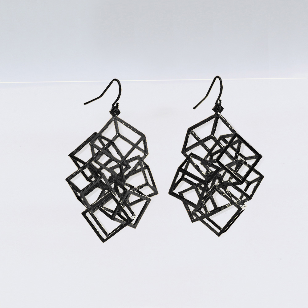 zimarty_zicube_earring_3d_printed_wearable_architecture_3d_print_jewelry_blackearring.jpeg