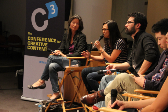 Moderating a panel on audience and Asian American stories at C3 hosted by Visual Communications.