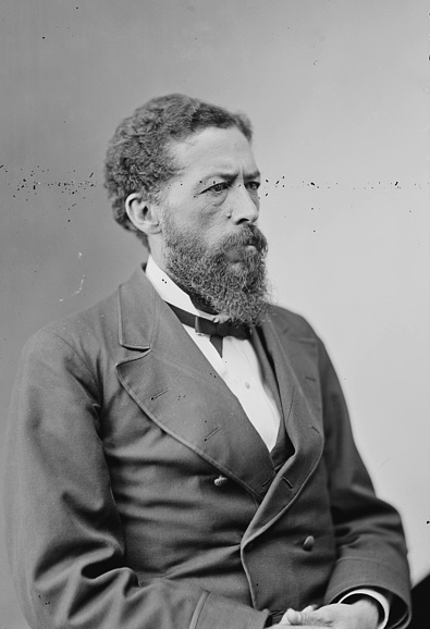 John Mercer Langston, younger brother of Charles Henry Langston. Library of Congress.
