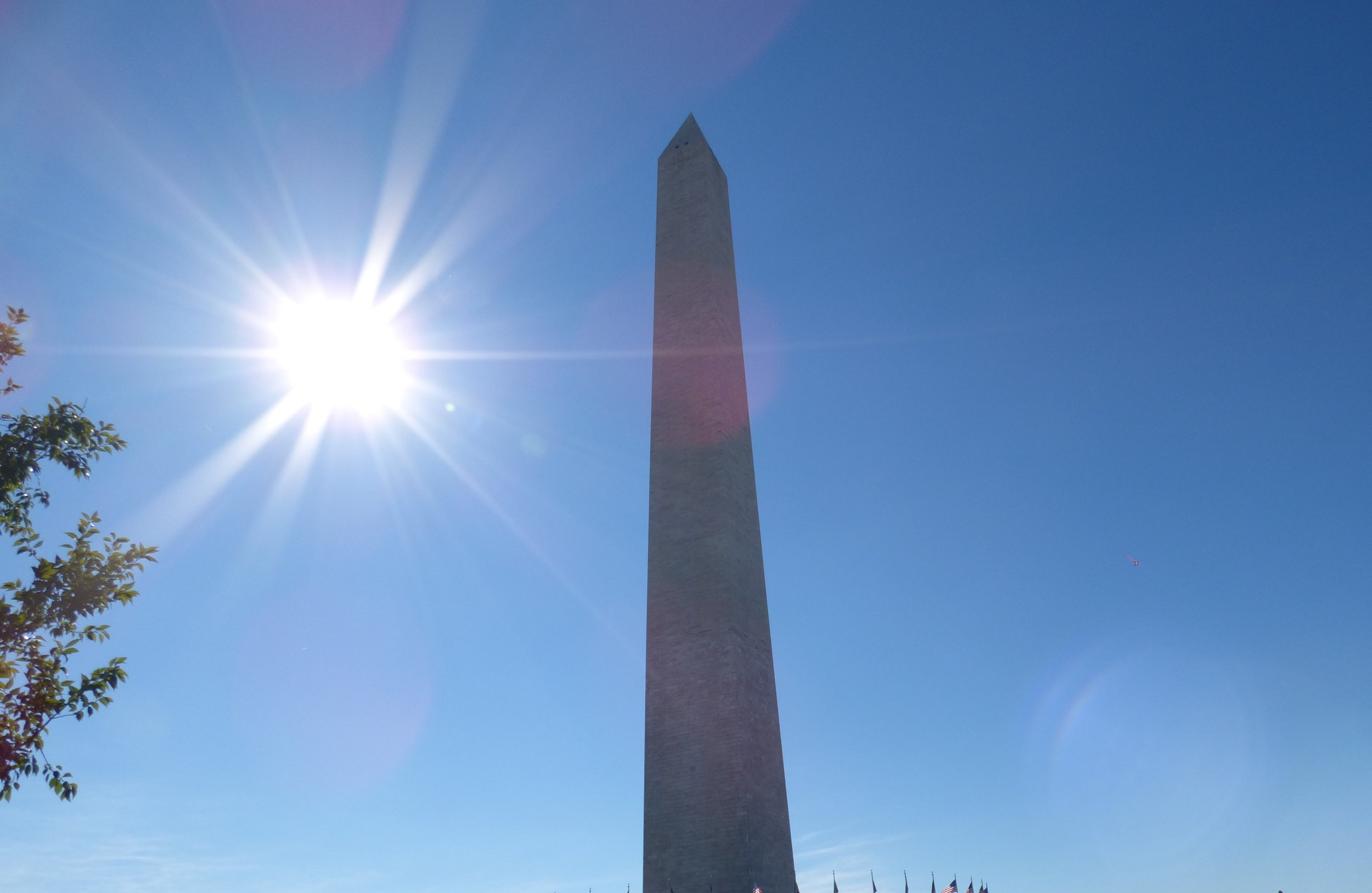 Red and Black Ink-Washington Monument