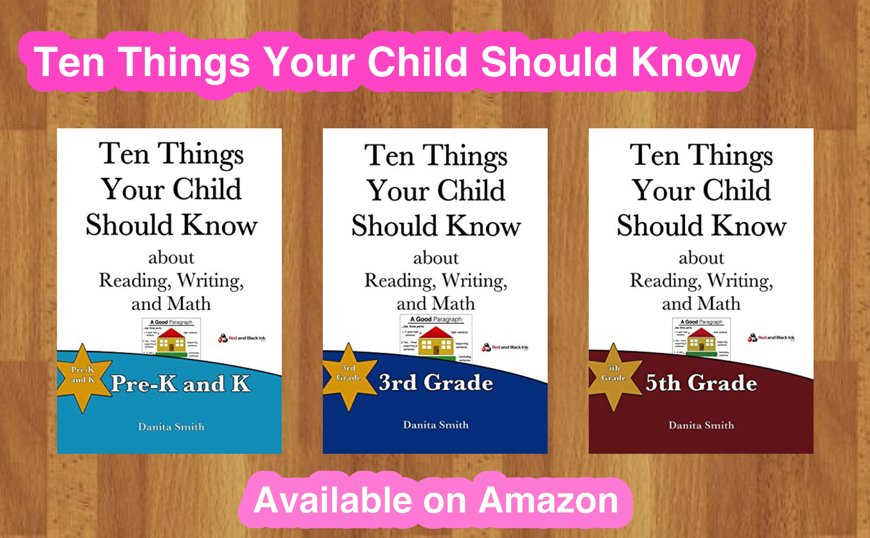 Our educational books are available on Amazon - Stories about Black History, Ten Things Your Child Should Know and more!