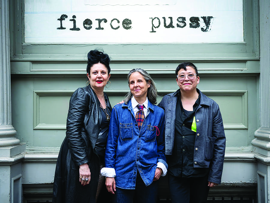 Joy Episalla, Nancy Brooks Brody and Carrie Yamaoka at the Leslie-Lohman Museum of Gay and Lesbian Art in New York. Image courtesy the Leslie-Lohman Museum