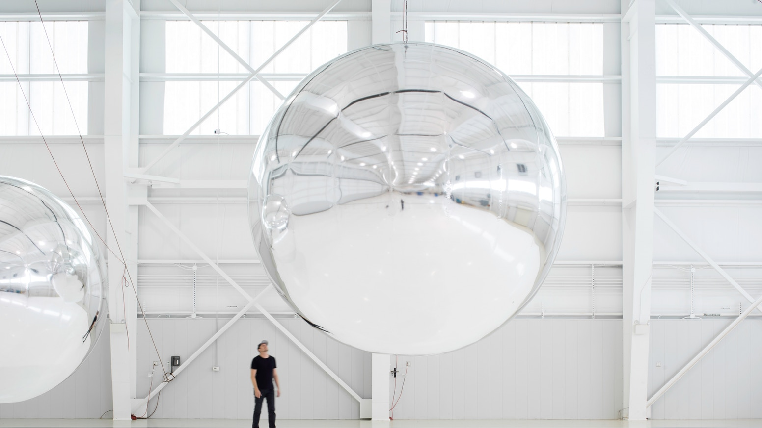 Trevor Paglen,  Orbital Reflector  (early prototype), 2017-2019. Image courtesy Paglen, Nevada Museum of Art.