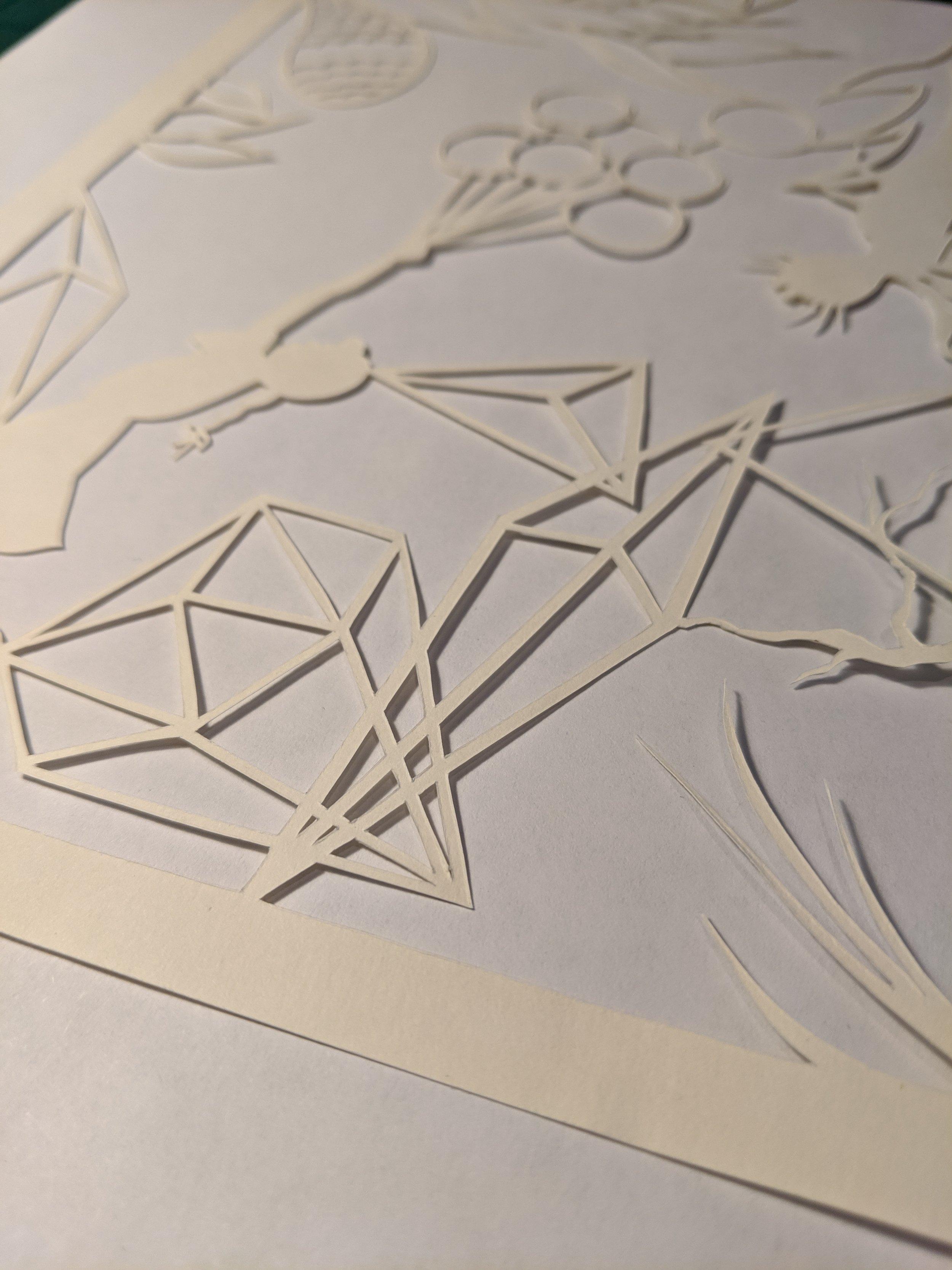 Antarctica Black,  Idiogenic nature (part I),  2019, hand-cut paper, 16 x 20 inches