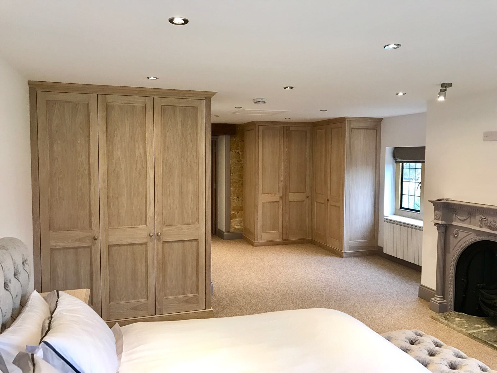 Limed Oak Wardrobe bedroom shot