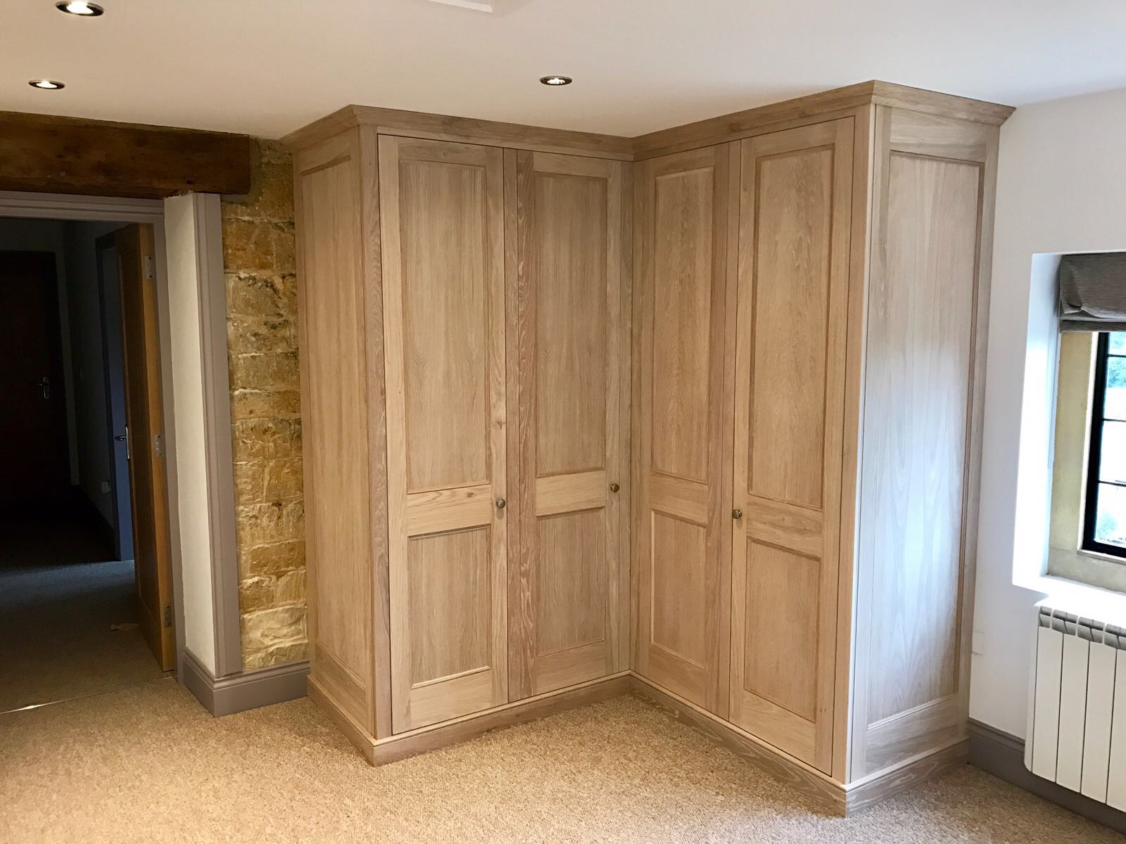 Limed Oak Wardrobe