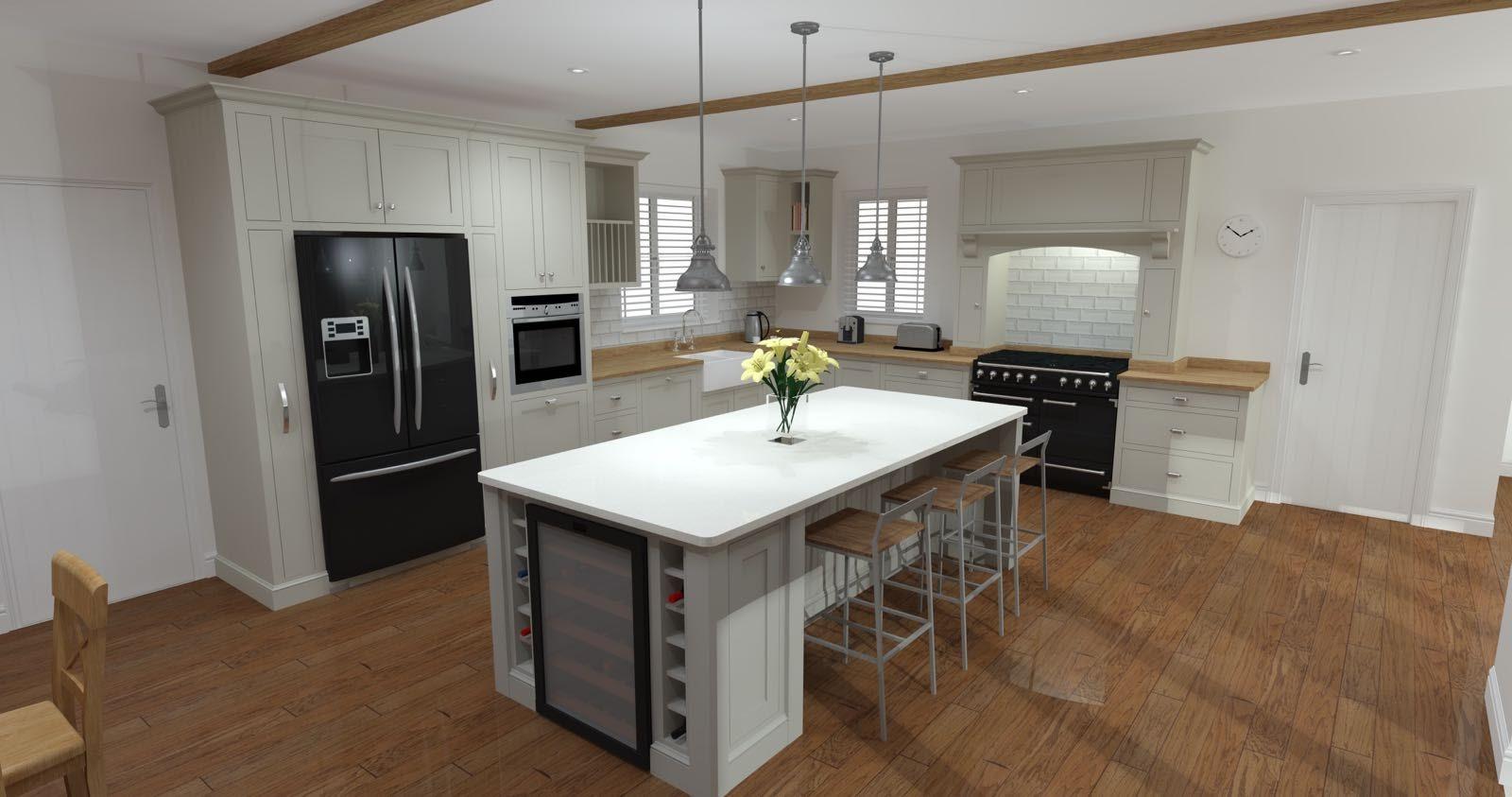 Bespoke kitchen with island