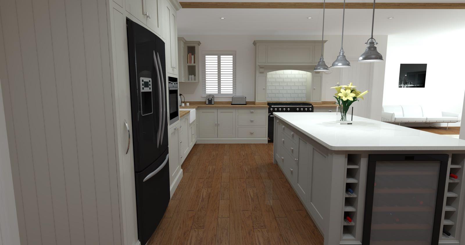 Shaker kitchen in solid oak