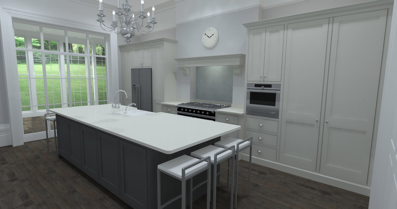 traditional shaker style kitchen