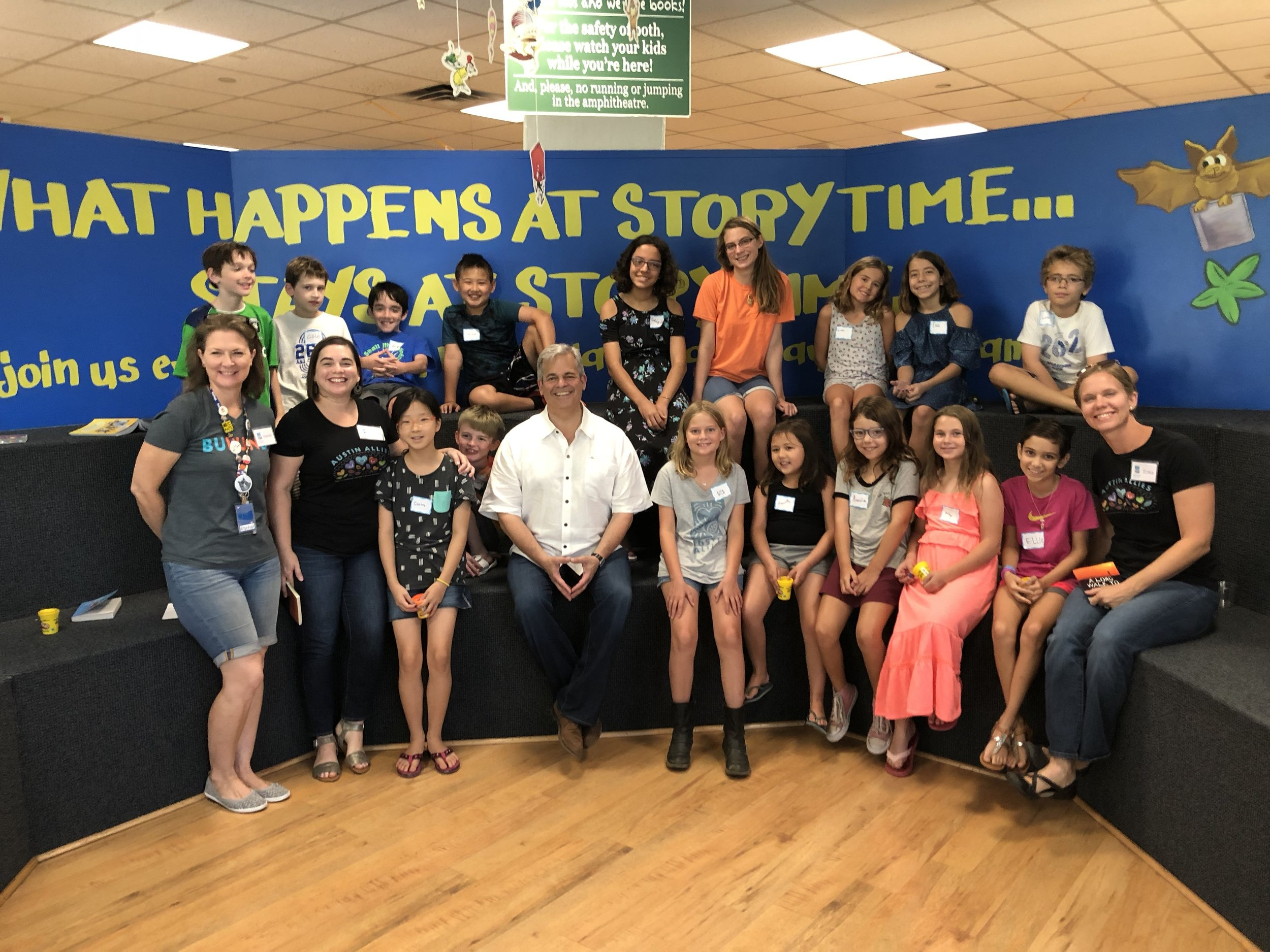 Mayor Adler joined our August 2018 Book Club to talk about how Austin welcomes refugees and how we keep our water supply available to so many people!