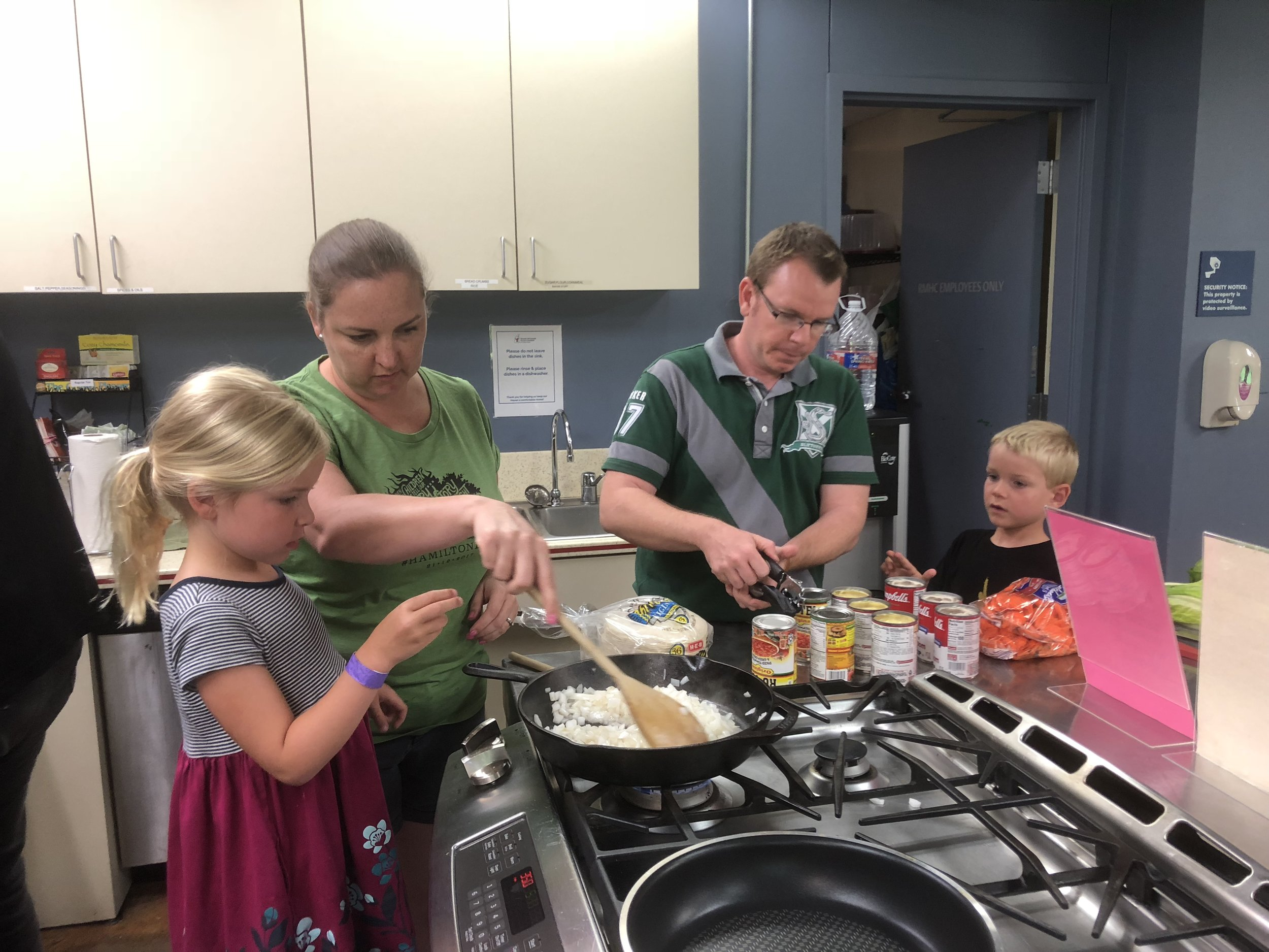 Daniel and his family enjoy cooking meals for the families at Ronald McDonald House.
