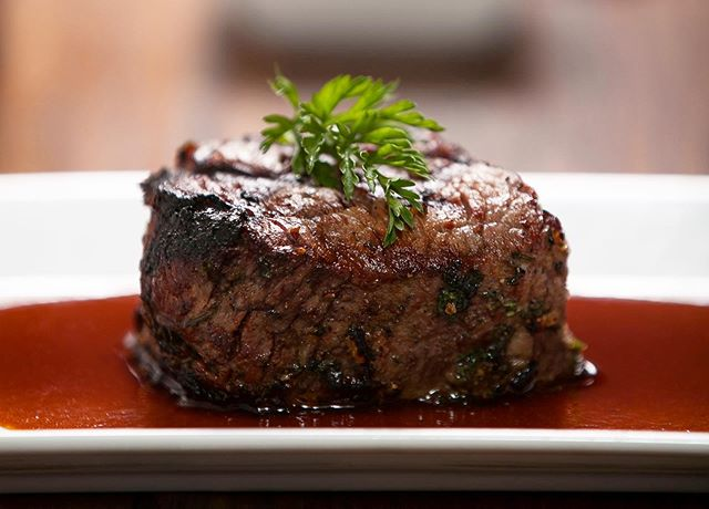 Beef tenderloin with bordelaise.