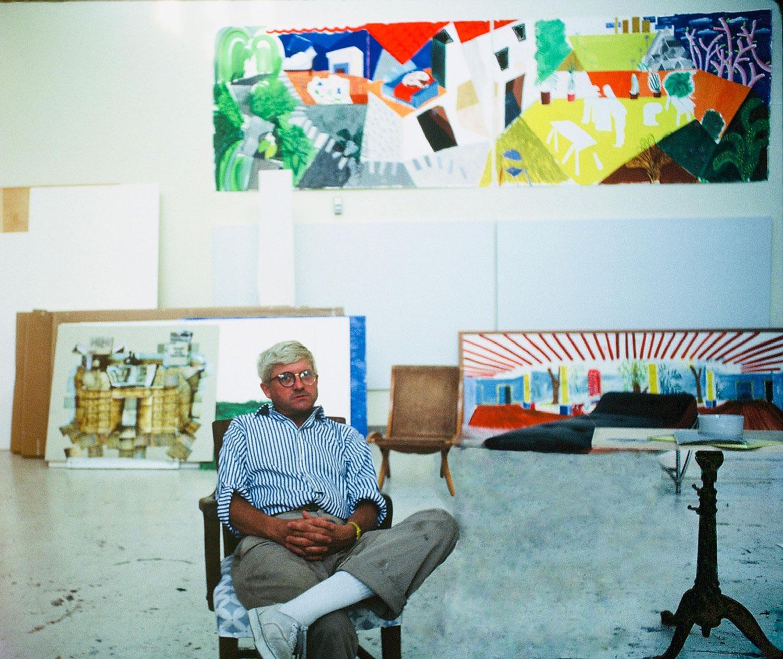 Hockney in his studio