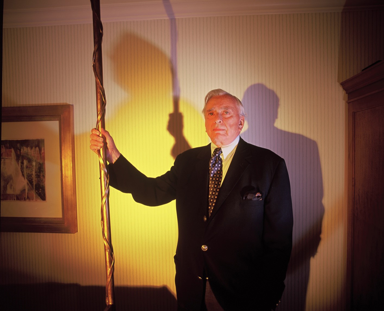Gore Vidal inside his Beverly Hills Hotel Bungalow