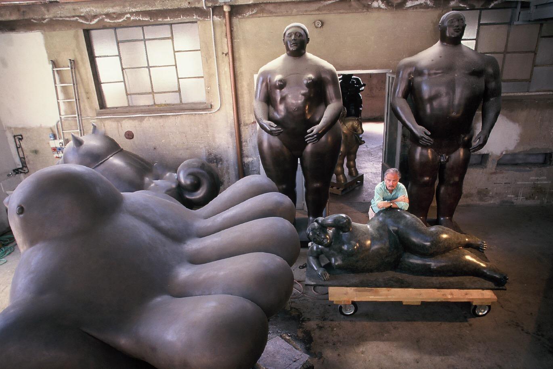 Botero in the Carrara Foundry