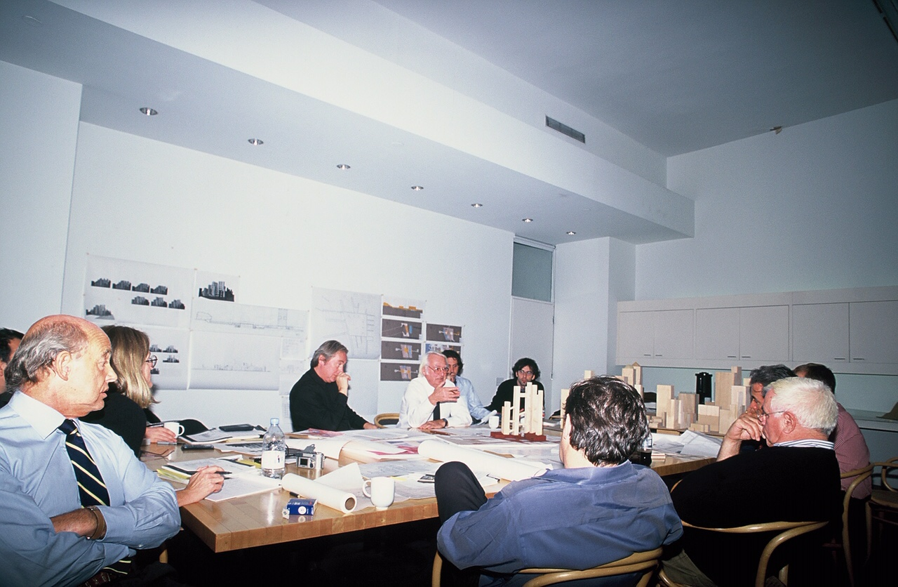 Richard Meier, Charles Gwathmey, Steven Holl and Peter Eisenman and team