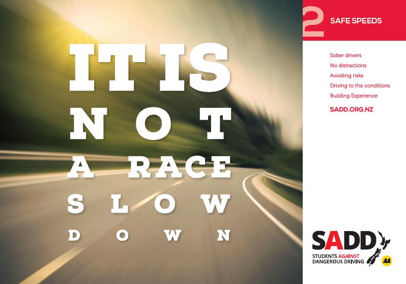 Safe speeds - A4 poster