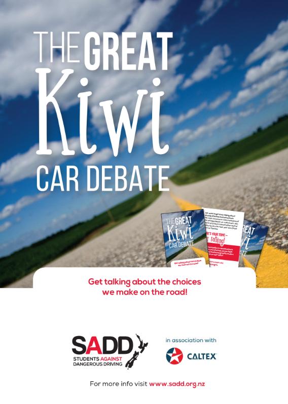 The great Kiwi car debate - A3 poster
