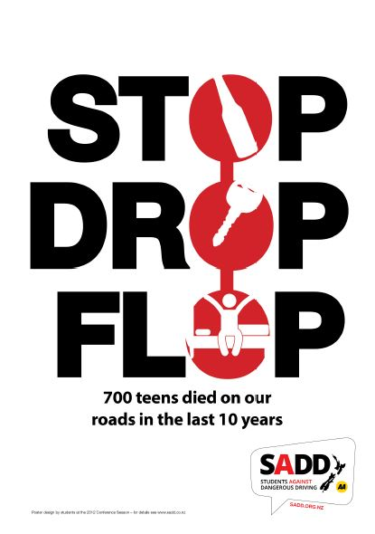 Stop drop flop - A4 poster